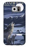 Lamar Valley Scene, Yellowstone National Park Galaxy S6 Case by  Lantern Press