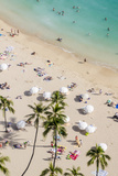Waikiki Beach, Waikiki, Honolulu, Oahu, Hawaii, United States of America, Pacific Reproduction photographique par Michael DeFreitas