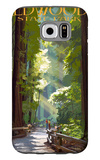 Redwoods State Park - Pathway in Trees Galaxy S6 Case by  Lantern Press