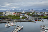 View over the Fishing Port and Houses at Stykkisholmur, Snaefellsnes Peninsula, Iceland Photographic Print by Yadid Levy