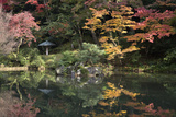 Autumn Colours Reflected in Hisagoike Pond Photographic Print by Stuart Black