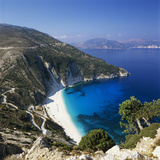 Myrtos Beach, North-West Coast, Kefalonia, Ionian Islands, Greek Islands, Greece Fotografie-Druck von Stuart Black