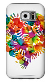 Colored Heart From Hand Print Icons Galaxy S6 Case by  strejman