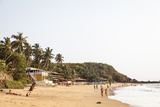View over South Anjuna Beach, Goa, India, Asia Photographic Print by Yadid Levy