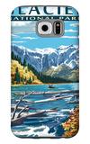 Avalanche Lake - Glacier National Park, Montana Galaxy S6 Case by  Lantern Press
