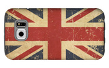 Uk Aged Flat Flag Galaxy S6 Case by  nazlisart