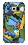 Landscape with Houses in Céret Galaxy S6 Case by Juan Gris
