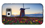 Tulip Field and Windmill Galaxy S6 Case by  Lantern Press