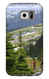 Glacier National Park - Going to the Sun Road and Hikers Galaxy S6 Case by  Lantern Press