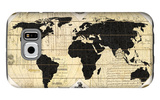 Vintage World Map Galaxy S6 Case by Devon Ross