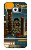 Retro Skyline - Nashville, Tennessee Galaxy S6 Case by  Lantern Press