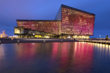 Harpa Concert Hall and Conference Centre in Reykjavik, Iceland, Polar Regions Photographic Print by Chris Hepburn