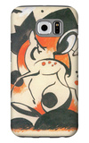 Composition with Two Deer Galaxy S6 Case by Franz Marc