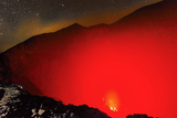 Glowing Active 700M Wide Volcanic Crater of Volcan Telica with Lava Vents Far Below Photographic Print by Rob Francis
