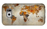 Grunge Map Of The World Galaxy S6 Case by  javarman