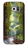 Big Sur, California - Pathway and Hikers Galaxy S6 Case by  Lantern Press