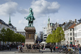 View over Hojbro Plads, Copenhagen, Denmark, Scandinavia, Europe Photographic Print by Yadid Levy