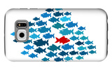 One Fish Swim In Opposite Direction, Dare To Be Different Concept Galaxy S6 Case by  mypokcik