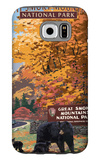Park Entrance and Bear Family - Great Smoky Mountains National Park, TN Galaxy S6 Case by  Lantern Press
