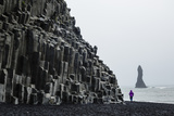 Basalt Columns at the Beach, Vik I Myrdal, Iceland, Polar Regions Photographic Print by Yadid Levy