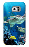 Sea Turtle Swimming Galaxy S6 Case by  Lantern Press