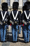 Guards at Amalienborg Royal Palace, Copenhagen, Denmark, Scandinavia, Europe Photographic Print by Yadid Levy