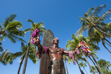 Duke Paoa Kahanamoku, Waikiki Beach, Honolulu, Oahu, Hawaii, United States of America, Pacific Photographic Print by Michael DeFreitas
