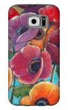 Electric Poppies 1 Galaxy S6 Case by Norman Wyatt Jr.