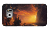 Sunrise in Yosemite Valley Galaxy S6 Case by Albert Bierstadt