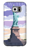 Statue of Liberty National Monument - New York City, NY Galaxy S6 Case by  Lantern Press
