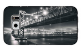 San Francisco Cityscape in Black and White, Bay Bridge Galaxy S6 Case by Vincent James