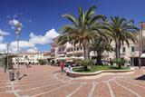 Piazza Matteotti, Porto Azzuro, Island of Elba, Livorno Province, Tuscany, Italy Photographic Print by Markus Lange