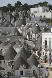 The Cone-Shaped Roofs of Trulli Houses in the Rione Monte District, Alberobello, Apulia, Italy Photographic Print by Stuart Forster