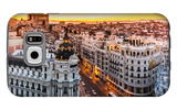Panoramic View Of Gran Via, Madrid, Spain Galaxy S6 Case by  kasto