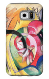 Colored Flowers Galaxy S6 Case by Franz Marc