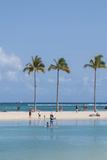 Waikiki Beach, Waikiki, Honolulu, Oahu, Hawaii, United States of America, Pacific Reproduction photographique par Michael DeFreitas
