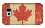 Canadian Aged Flat Flag Galaxy S6 Case by  nazlisart