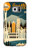 Seattle, Washington - Retro Skyline Galaxy S6 Case by  Lantern Press