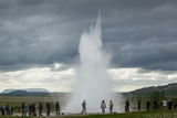 Strokkur Geyser, Geysir, Golden Circle, Iceland, Polar Regions Photographic Print by Yadid Levy