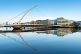 Samuel Beckett Bridge over the River Liffey, Dublin, County Dublin, Republic of Ireland, Europe Photographic Print by Chris Hepburn