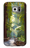 Kings Canyon National Park, California - Pathway and Hikers Galaxy S6 Case by  Lantern Press