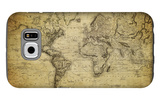 Vintage Map of the World, 1814 Galaxy S6 Case by  javarman