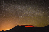 Glowing Active Volcanic Crater of Volcan Telica on a Starry Night Photographic Print by Rob Francis