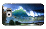 The Coast of the Turquoise Sea Galaxy S6 Case by Albert Bierstadt
