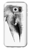 Artistic Black And White Elephant Galaxy S6 Case by  Donvanstaden