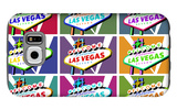 Las Vegas, Nevada - Welcome Sign Pop Art Galaxy S6 Case by  Lantern Press