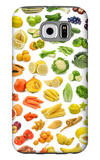 Collection Of Fruits And Vegetables Galaxy S6 Case by  egal
