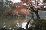 Kenrokuen Garden with Kotojitoro Lantern in Autumn Stampa fotografica di Stuart Black