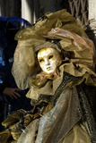 Lady in Gold, Venice Carnival, Venice, Veneto, Italy, Europe Photographic Print by James Emmerson
