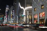 Exclusive Designer Shops at Night, Ginza Area, Chuo, Tokyo, Japan, Asia Photographic Print by Stuart Black